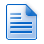 Document icon blue